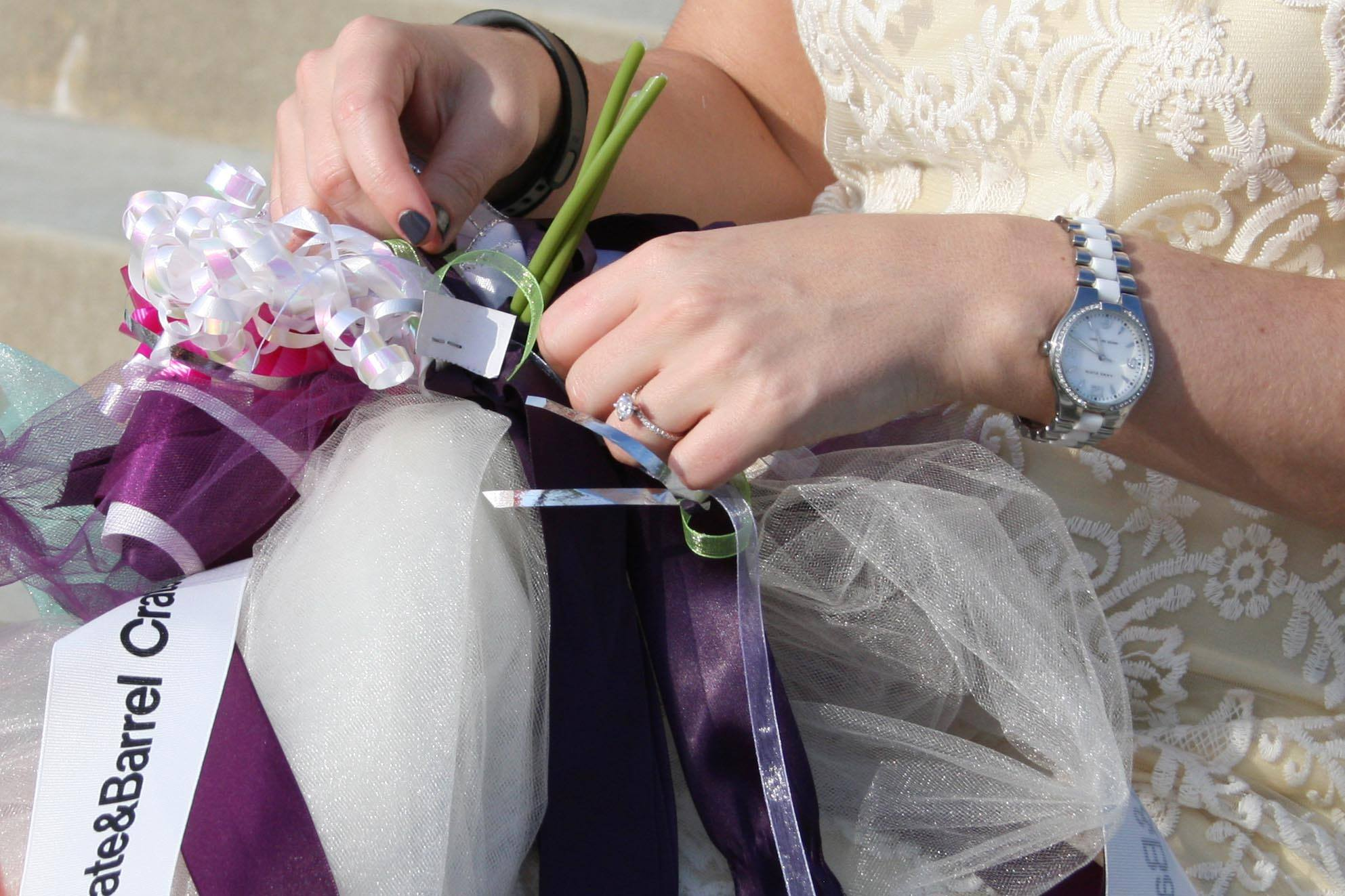 Bridal Bouquet Out Of Ribbons : Wedding rehearsal ribbon bouquet engineeredcreations