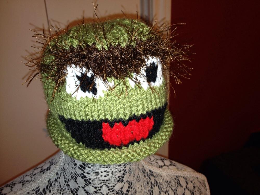 Oscar the Grouch Baby Hat (2/3)