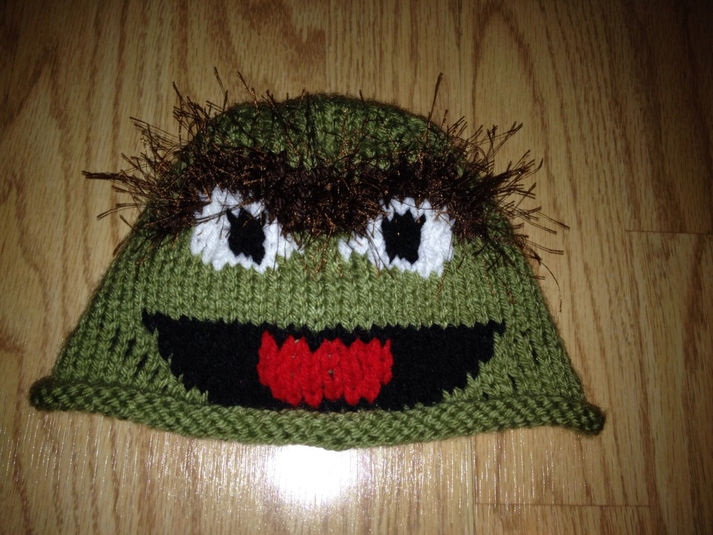 Oscar the Grouch Baby Hat (3/3)