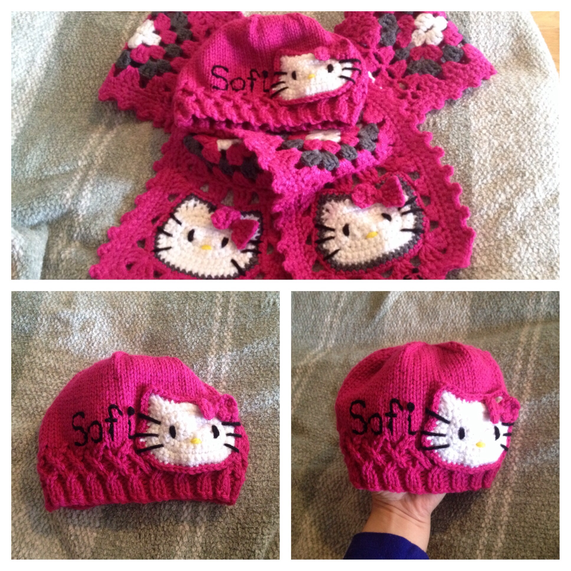 Free Crochet Pattern Hello Kitty Hat : Hello Kitty Hat engineeredcreations