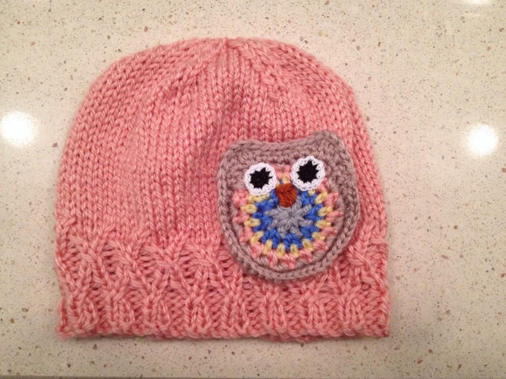 Owl Baby Hat (1/2)